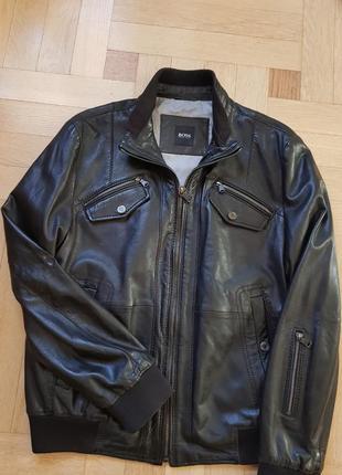 7f9b16c2 Мужские кожаные куртки Hugo Boss 2019 - купить недорого мужские вещи ...