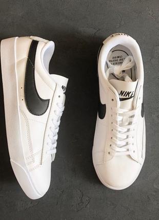 "Кроссовки nike blazer low leather ""white/black"""