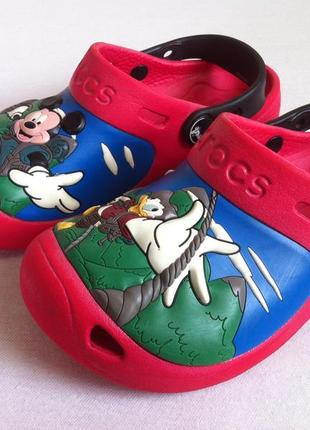 """Сабо crocs  """" mickey mouse """" ☀️😎 размер с 12 - с13 ( 29-30 ) оригинал ❗❗❗"""