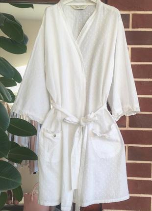 Новый хлопковый халат с кружево халат love to lounge