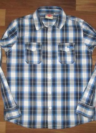 Хорошенькая рубашечка в клетку фирмы lee cooper на 11-12 лет