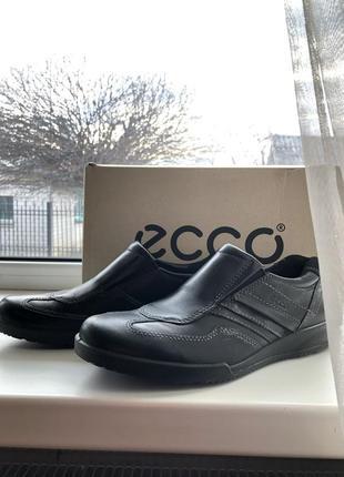 Мужские туфли ecco (идеальное состояние)