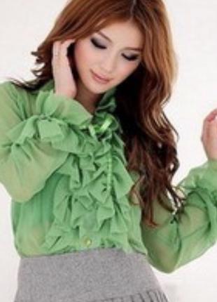 Блузка с воланами etro milano