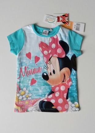Яскрава футболка для дівчинки на 3 роки - disney / minnie mouse / sun city