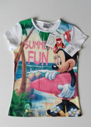 Яскрава футболка для дівчинки на 6 р. - disney / minnie mouse / sun city