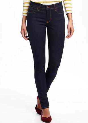 Женские джинсы скинни  с чуть заниженной посадкой от old navy
