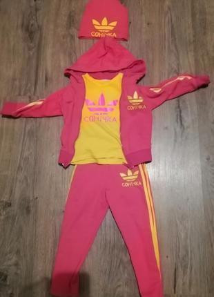 Спортивний костюм для сонічки на 2-3,5роки.