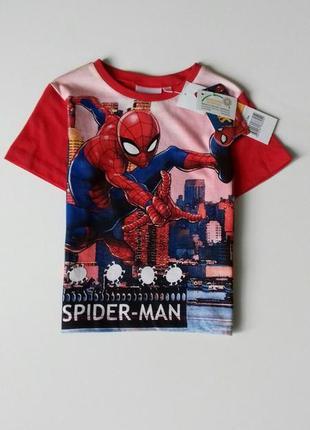 Яскрава футболка для хлопчика на 3 р. - disney / marvel / spider man / sun city