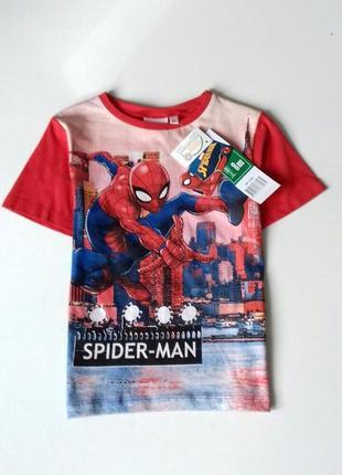 Яскрава футболка для хлопчика на 7-8 р. - disney / marvel / spider man / sun city