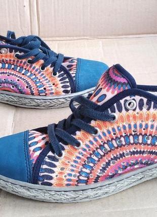 Яркие стильные удобные мокасины кеды туфли rieker