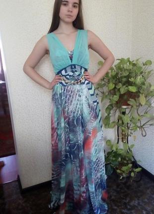 Шифоновое платье цвета морской волны 💦💦💧