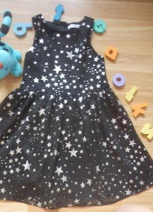 Фирменное платье m&s малышке 5-6 лет состояние отличное