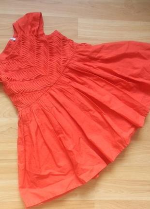 Фирменное нарядное платье m&s 1-1,5 года состояние