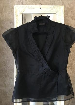 Шелковая блузка на запах супер качество!3 фото
