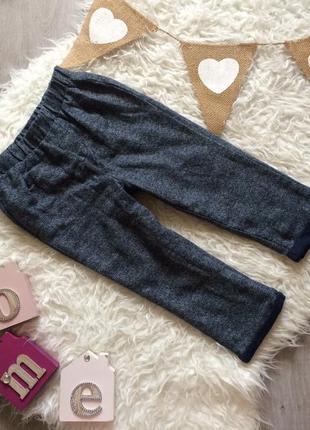 Стильные узкие штаны на подкладке 18-24 месяца