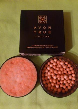 Пудра-шарики с эффектом сияния avon true colour