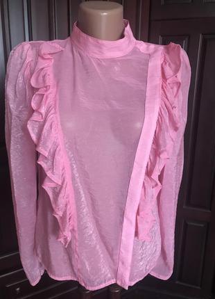 Розовая блузка из органзы н&м