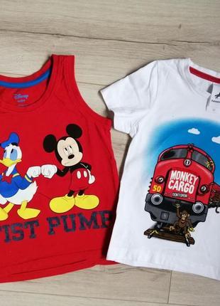 Набор футболка и майка на мальчика 2г