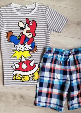 Набор футболка и шорты на мальчика 9-10л