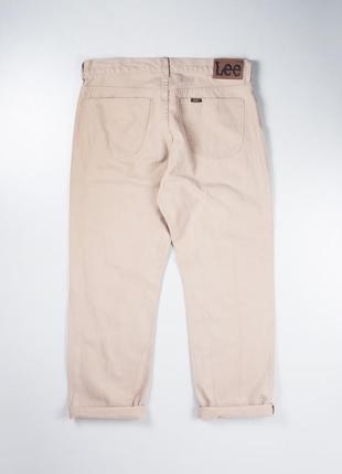 Бежевые винтажные джинсы lee vinatge