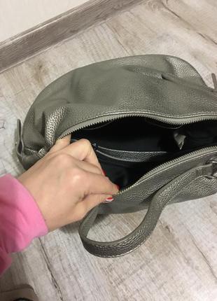 Серебристая сумочка