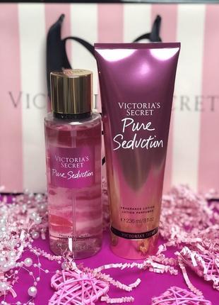 Парфюмированный мист и лосьон для тела victoria's secret pure seduction