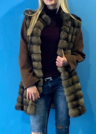Соболь! новая шуба -  пальто из соболя. акционная цена!