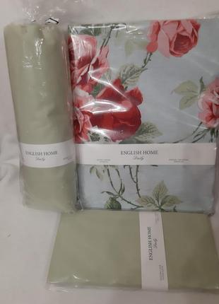 Комплект качественного постельного белья, полуторный, 100%хлопок