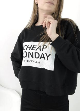 Укороченный свитшот cheap monday кофта