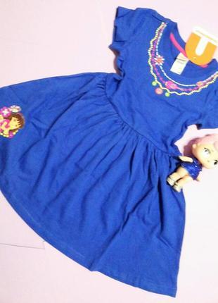 Трикотажное платье nickelodeon (никелодеон) даша следопыт (3-5 лет)