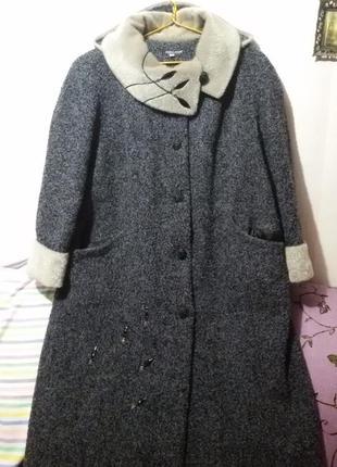 0467af9da5f Теплое зимнее пальто большого размера (пог-75 см)