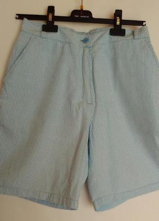 Классные легкие классические шорты james perry размер m с высокой талией и карманами в клетку