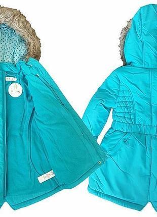 Оригинальная парка полупальто, куртка из англии для модниц  от годика до 8 лет