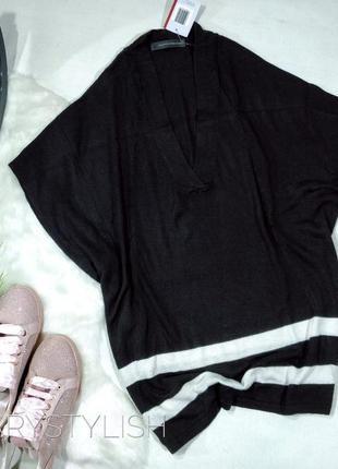 Пуловер черный оверсайз