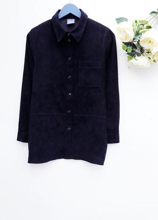 Крутая замшевая рубашка стильная рубашка под замш
