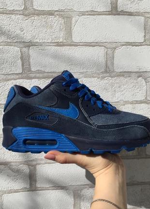 Синие кроссовки nike air max