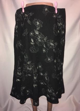 Принтованная юбка трикотаж с клиньями на подкладке