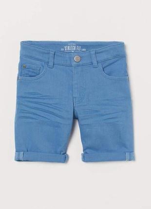Джинсовые шорты h&m с карманами на 3-4 года