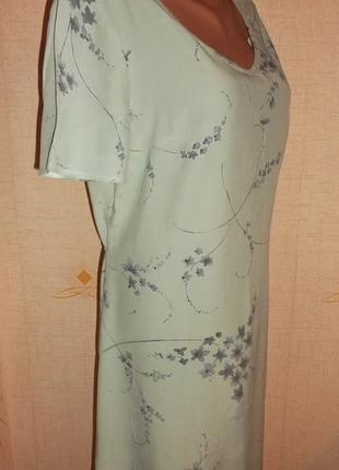 Летнее платье рукав короткий голубое вискоза р. l