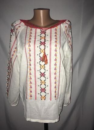 Блуза рубашка вышиванка ручная работа