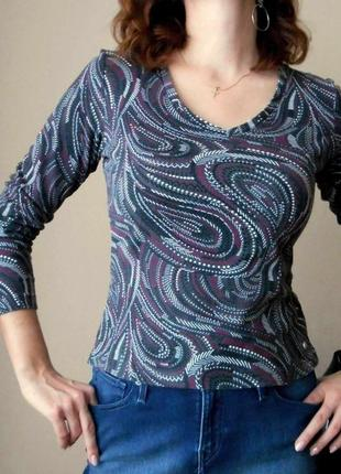 Джемпер street one пуловер топ футболка с длинным рукавом кофта лонгслив хлопок р. м