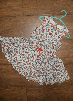 Яркое летнее платье с пышной юбочкой на 2-3 годика