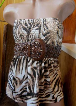 Распродажа яркая одежда для яркого лета - топ-бандо amisu