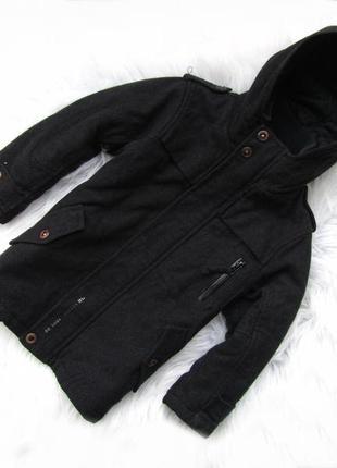 Стильная демисезонная  пальто парка куртка  с капюшоном next