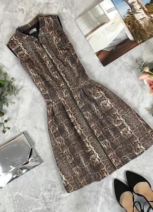 Стильное платье со змеиным принтом на молнии  dr1912147  f&f