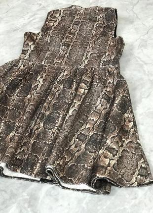 Стильное платье со змеиным принтом на молнии  dr1912147  f&f3 фото