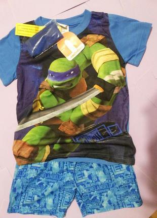 Костюм шорты и футболка nickelodeon черепахи мутанты ниндзя + аксессуар disney