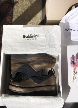 Бронзовые туфли - ботинки baldinini, оригинал
