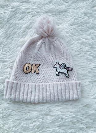 """Детская шапочка """"единорожка""""для девочки"""