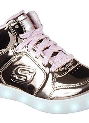 Светящиеся кроссовки с led подсветкой skechers energy. размер 28,5-29. стелька 18,8см